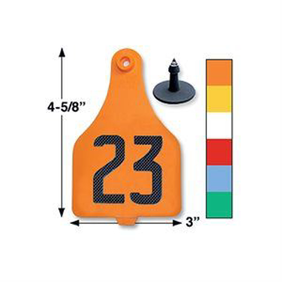 Picture of Duflex Extra Large 2-Piece Eartag, 25 tags