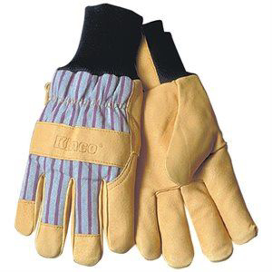 Picture of Cold Weather Leather-Palm Knit-Wrist Gloves